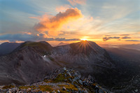 Sunset on Beinn Eighe